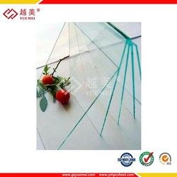 Clear polycarbonate solid sheets for building construction