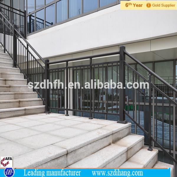 Wholesale Wrought Iron Railings Metal Railing Outdoor Stairs Prefab Metal Sta
