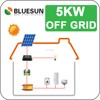 Bluesun best price 5kw off grid solar energy panel system
