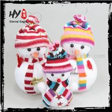 Brand new christmas decoration outdoor, beautiful and cute bowknot christmas small hanging, resin snowman