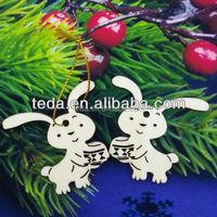 Free Shipment 2016Teda wooden animal rabbit/mouse/birds