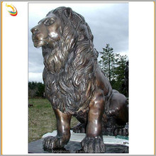 Best Selling Products Life Size Sitting Brass Lion Statues For Sale