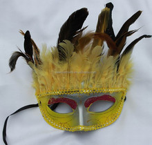 Factory direct-sale new-design best-quality party supplies -----beautiful design feather mask