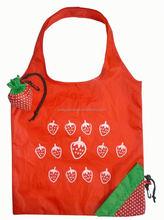 Hot folding fruit shape reusable promotion portable folding shopping trolley bag with wheels