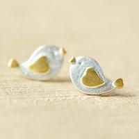 Top Selling Birds 925 Sterling Silver Earrings charms fashion girls silver stud earring!!