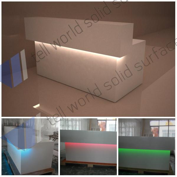 desk design/information counter design/ build a reception desk