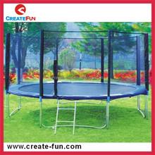 Createfun brinquedo ao ar livre barato rodada grandes crianças trampolim com pad segurança