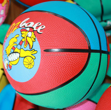 Cheap hot sale promotional 12 panels rubber basketball