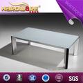 de metal con tapa de cristal mesa de café pedestal