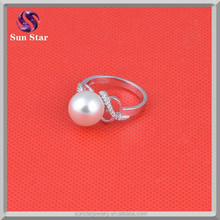 Sterling Silver 925 Fashion Pearl Rings