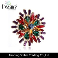 fancy flower crystal ring neelam stone ring