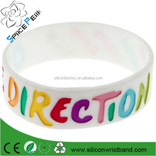 2015 fashion one direction & 1D silicone wristband, promotional hot sale one direction silicon bracelets bangles for men