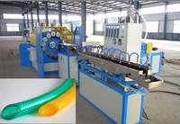 Plastic pvc soft fiber hose extrusion line /pipe production line