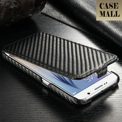 Carbon fiber case for Samsung S6 / Top flip case cover for samsung S6