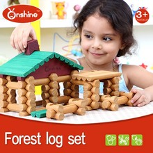 90pcs Forest Log Set Wooden Toy Doll House Child Toy