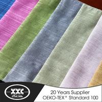 Elegant style linen design stripe curtain fabrics