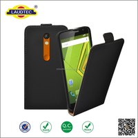 PU Leather Flip wallet Case Mobile Phone Cover For Motorola Moto X Play