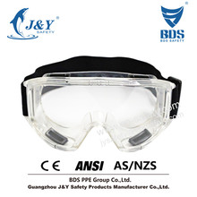 2015 HOT Sales Anti-Fog Approved Safety Wide-Vision Lab CE ANSI Approved Goggle,Fabric Headband
