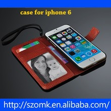 Leather Color Wallet Book Case Cover skin for iPhone 6 Best Quality