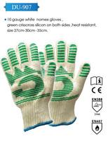 crisscross silicon double side heat resistant nomex gloves en388 en 407
