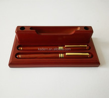 Wooden desk pen ,three-piece suit wood pen