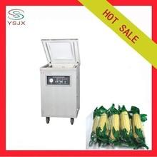 Plastic food bag chamber vacuum sealer