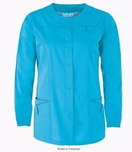 Hospital Scrubs Jackets Medical Scrubs China Woman Coat Wholesale Medical Uniforms Snap Front Scrubs Jackets WS419