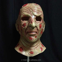 X-MERRY A Nightmare On Elm Street! 2015 canival realistic Awesome Mask Full Head Rubber latex Horror Mask for halloween day