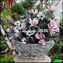 creazying weaving boat shaped flower baskets