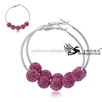 Fashion Earrings For Women,Wives Earrings With Crystal Ball,Wholesale Wives Earrings Free Shipping