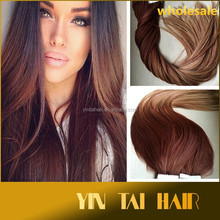"""2015 wholesale price Hair extansion tape in hair extension Straight Hair Extensions 18""""20""""22""""24"""""""