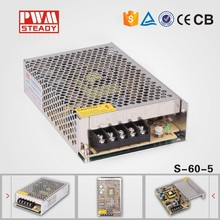 60w 5vdc 12a meanwell Style ac/dc SMPS CE Approved