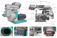 Large capacity 0.2-2.5 t/h sawdust pellet making machine/wood pellet mill
