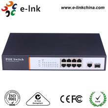 8 ports 10/100Mbps web smart PoE switch for IP cameras,wireless AP,VoIP users