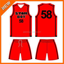 top in Trend sales sublimation printing basketball uniform