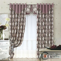 China luxury european style window curtains linen cafe curtains