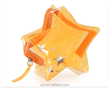 Clear PVC Cosmetic Star Wallet Bag