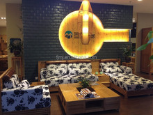 Luxury livingroom furniture bamboo executive fabric sofa design