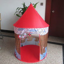 Economic new arrival new pink kid game play hut play tent princess castle