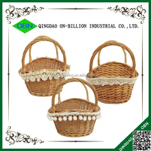 Handmade wicker cheap custom easter basket