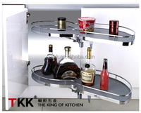 2 tier soft stop kitchen cabinet corner swing tray