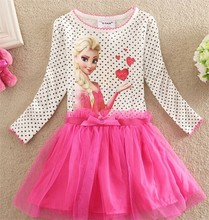 Popular frozen elsa dress wholesale children girl dress