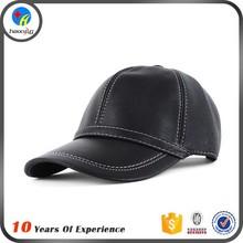 black leather baseball caps/mens leather baseball cap