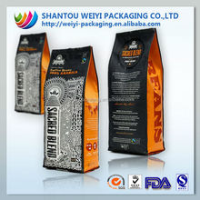 customized plastic aluminum foil coffee bags/ coffee bag with valve/ Coffee packaging bags 250g 500g 1kg