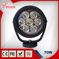 70 Watt led work light, CE ROHS IP68 high lumens 70W led driving light for off road