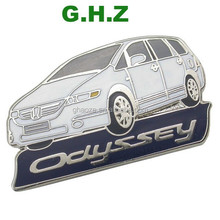 Custom Car Shape Logo Medal Metal Badges Emblem Factory