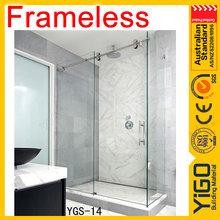 Popular Frameless sliding glass shower door for glass shower room