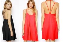 china alibaba africana vestidos espaguetis correa vestido de gasa para la mujer