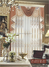 Top Grade Home Textile Drapery Luxurious Valance Curtains