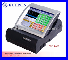 todo en una sola exhibición de diapositivas de la tarjeta chip de la función de pantalla táctil pos terminal del sistema